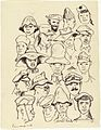 Prison Camp Headgear- Eighteen Hats, Changi Gaol, 1944 Art.IWMART15747142.jpg