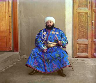 Emir - Mohammed Alim Khan, Emir of Bukhara, taken in 1911 by Sergey Prokudin-Gorsky.