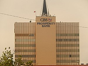 Odessa, Texas - Prosperity Bank Building is the tallest building in Odessa.