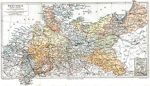 Provinces of Prussia - The twelve Prussian provinces on an 1895 map