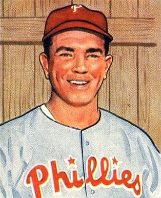 Willie Jones (baseball) - Jones' 1950 baseball card from Bowman Gum