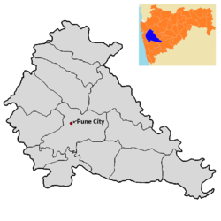 Pune City tehsil in Pune district.png