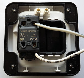 Push switch - Commercially Available Push Switch - Wired up as a Push to Break Switch