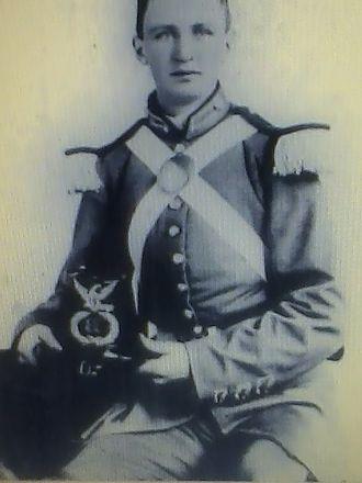 12th Virginia Infantry - Image of Pvt. McKensie Dunlop in his dress uniform, of Co. C, Petersburg Greys, 12th Virginia Infantry, in 1861.