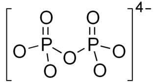 Pyrophosphate salt or ester of diphosphoric acid