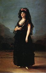 Queen María Luisa in a Mantilla by Goya (Royal Palace of Madrid).jpg