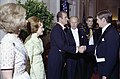 Queen Sofia, First Lady Betty Ford, King Juan Carlos, and President Gerald R. Ford Greeting Guests in the Receiving Line at a State Dinner Honoring the King and Queen of Spain - NARA - 30805955.jpg