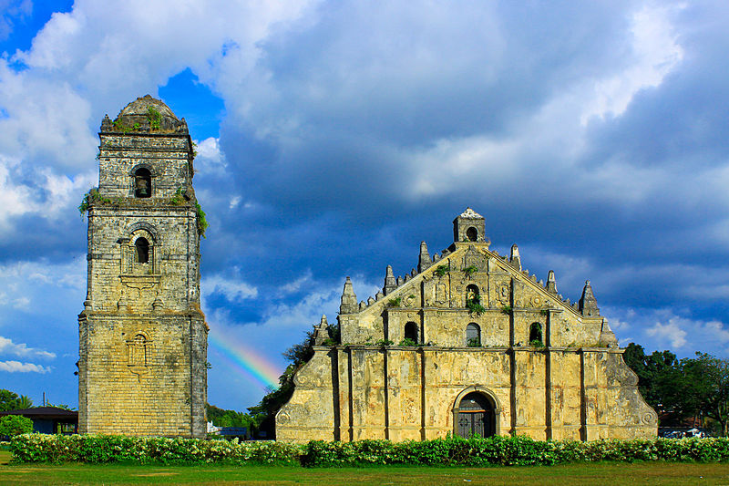File:RAINBOW BEHIND ...Paoay church.jpg