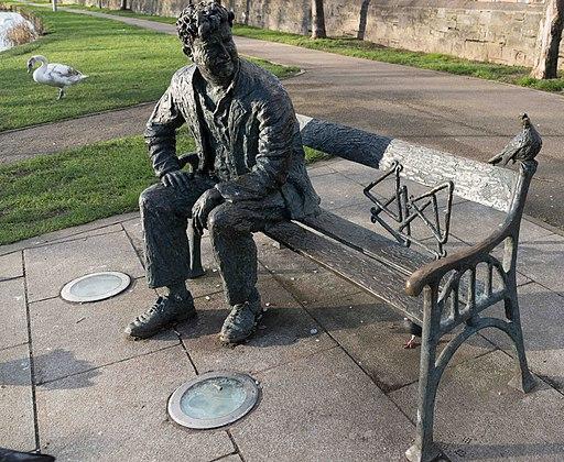 REMEMBERING BRENDAN BEHAN (PUBLIC ART BESIDE LOCK 2 ON THE ROYAL CANAL)--111891 (24746426639)