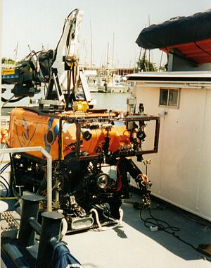 Monterey Bay Aquarium Research Institute - ROV Ventana on board of the MBARI research vessel Point Lobos
