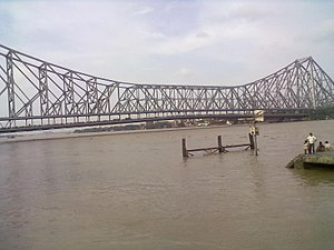 Howrah district - Howrah bridge in hoogli river