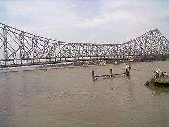 Howrah district - Howrah bridge in hoogli river