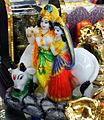 Radha Krishna Images - A statuette of Radha Krishna with Krishna playing the flute.jpg