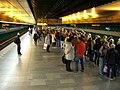 Radlická, nástupiště metra při povodňovém přerušení provozu.jpg
