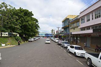 Rakiraki District, Fiji - Street on Rakiraki Town, the only town of the district