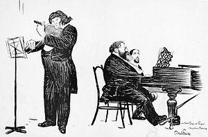 English: Eugène Ysaÿe (1858-1931) and Raoul Pu...