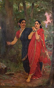 India: La Milenaria y misteriosa   180px-Ravi_Varma-Draupadi_and_Simhika