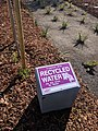 Recycled Water irrigation sign in Sunnyvale, California.jpg