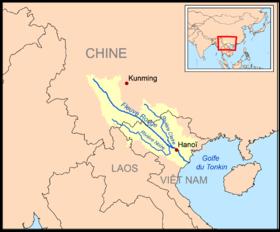 Carte Du Monde Yunnan.Fleuve Rouge Wikipedia