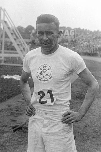Reg Thomas (athlete) - Reginald Thomas in 1929
