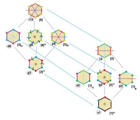 Regular hexagon symmetries.png