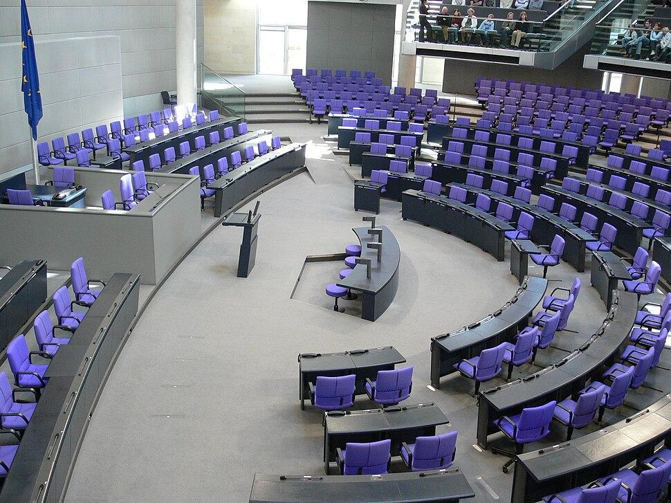 Reichstag Plenarsaal des Bundestags