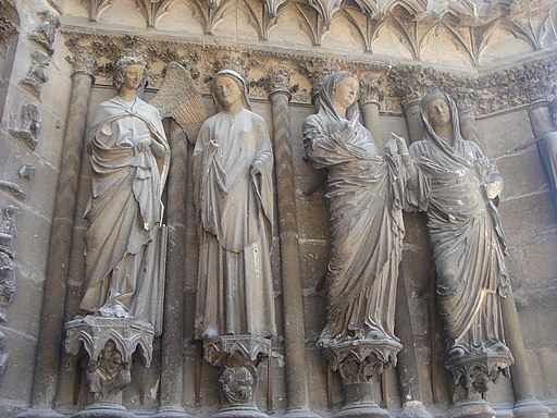Reims Cathedral - Central doorway