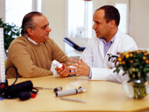 Conversation between patient and doctor