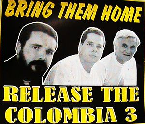 Colombia Three - A Sinn Féin poster calling for the men's release