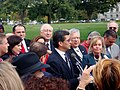 Rep Becerra addressing the crowd at the press conference2.JPG