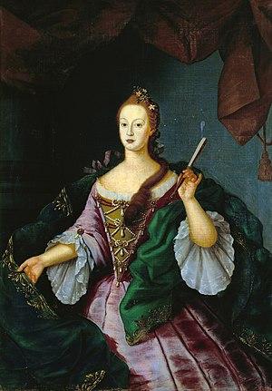 Infanta Maria Doroteia of Portugal - Portrait by Vieira Lusitano
