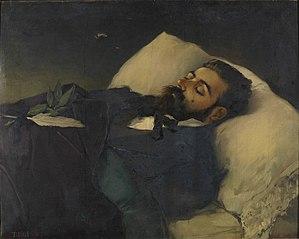 Retrato mortuorio del periodista Pedro Avial Taracena
