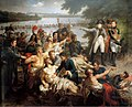 Return of Napoleon to the Isle of Lobau after the Battle of Essling, 23 May 1809 (by Charles Meynier).jpg