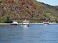 Rheinkrone (ship, 1991) & Calypso (ship, 2000) & Boppard on the Rhine at Oberwesel pic.JPG