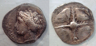 Roses, Girona - Rhoda coins, 5th-1st century BCE.