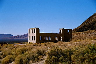 Rhyolite, Nevada - The remains of Rhyolite's two-story, eight-room school building
