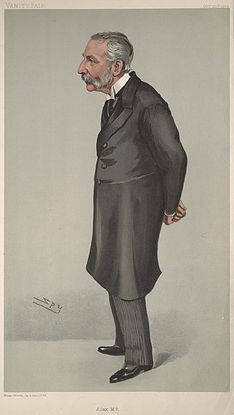 "Richard Claverhouse Jebb - ""Ajax MP"". Caricature by Spy published in Vanity Fair in 1904."