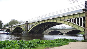 Southern Region of British Railways - Richmond Railway Bridge spanning the Thames in Richmond upon Thames.