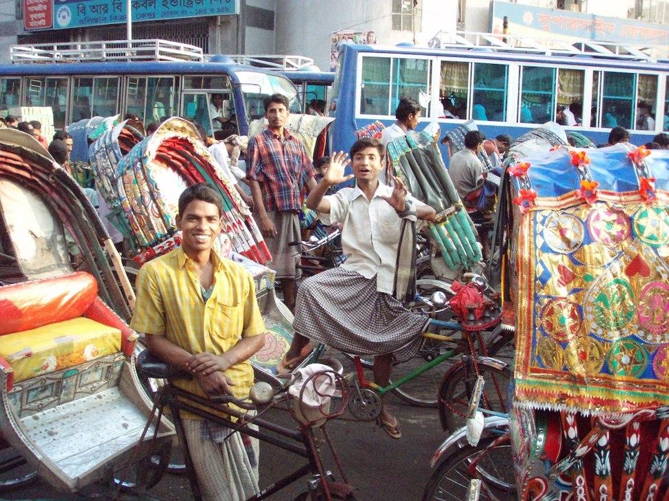 Rickshaws everywhere