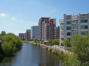 River Aire waterfront, Leeds 001