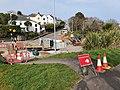 Roadworks at Higher Stennack, St Ives, March 2021.jpg