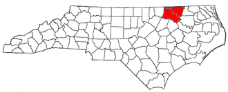 Roanoke Rapids, North Carolina micropolitan area - Location of the Roanoke Rapids Micropolitan Statistical Area in North Carolina