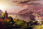 Robert W. Weir, View of the Hudson River, 1864, West Point Museum.jpg