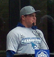 Rochester Knighthawks - 2012 - Cody Jamieson at city ceremony cropped.JPG
