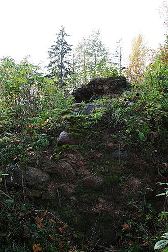 Rokantiškės Castle - Rokantiškės Castle remains