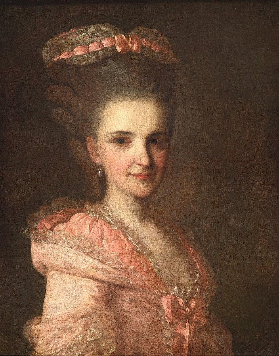 Rokotov Unknown In Rose Dress