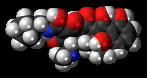 Rolitetracycline - Image: Rolitetracycline 3D spacefill