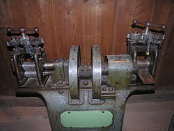 Rolling mill for plates and wires (goldsmith tool).