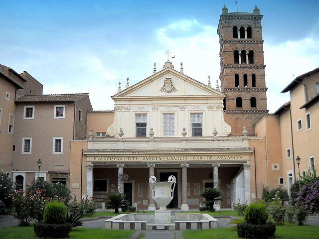 Rome Chrétienne et ses monuments - EUGENE DE LA GOURNERIE - 1867 640px-Roma_Trastevere_Basilica_di_Santa_Cecilia_facciata