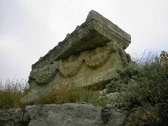 Seleucia Pieria - A Roman sarcophagus on the upper hills of the city